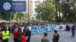 Manifestación del Recreativo Supporters Trust.