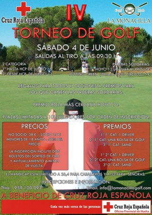 Cartel de golf de la Cruz Roja.